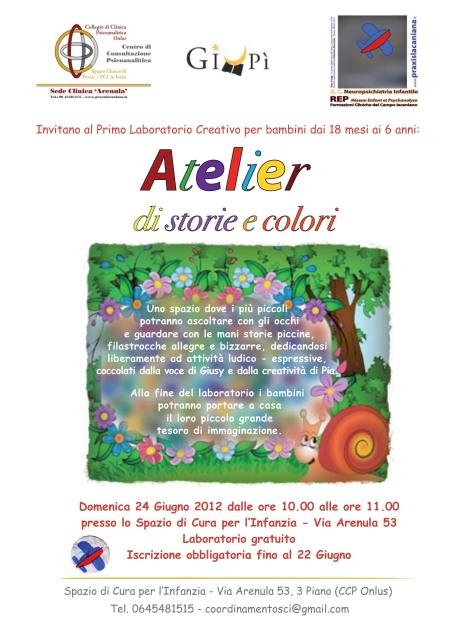Torna Giupì con un altro atelier di storie e colori presso lo Spazio di Cura per l'Infanzia!
